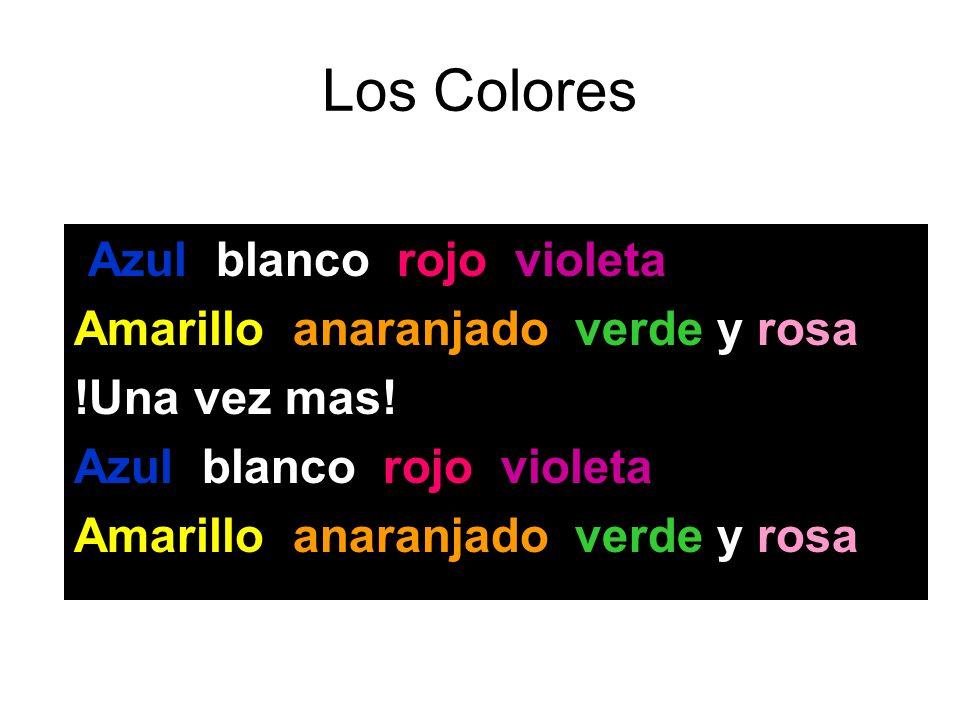 Los Colores Amarillo, anaranjado, verde y rosa! !Una vez mas!