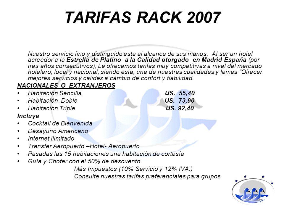 TARIFAS RACK 2007