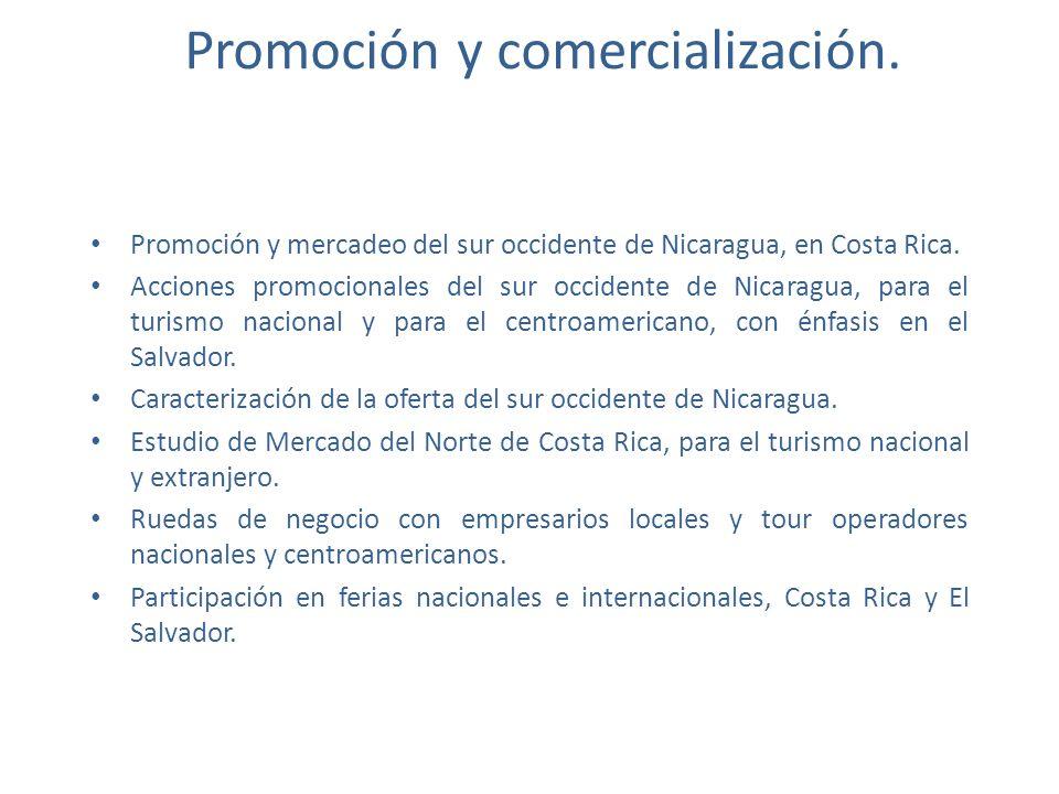 Promoción y comercialización.