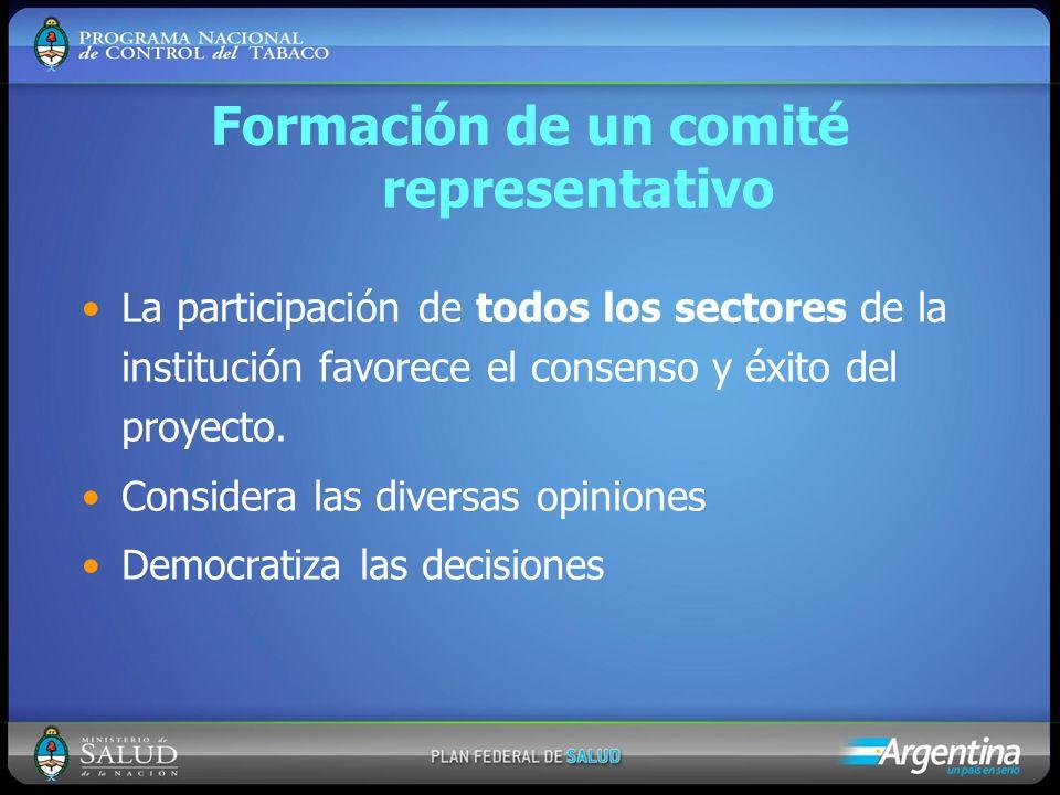 Formación de un comité representativo