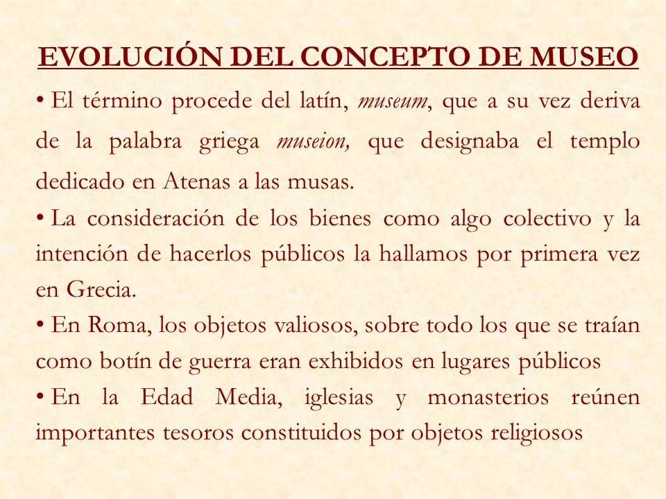 EVOLUCIÓN DEL CONCEPTO DE MUSEO