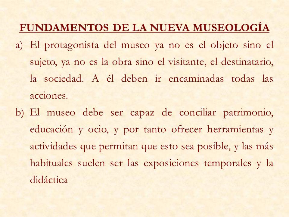 FUNDAMENTOS DE LA NUEVA MUSEOLOGÍA