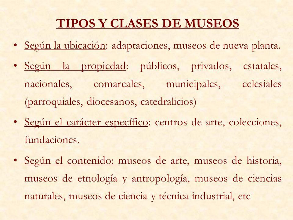 TIPOS Y CLASES DE MUSEOS
