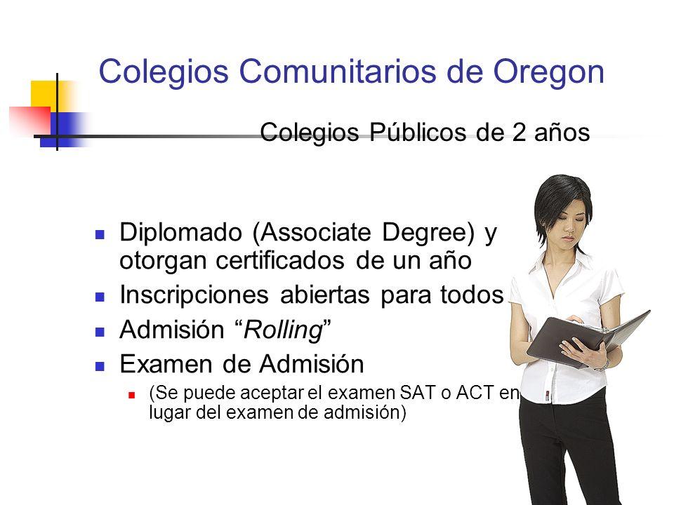 Colegios Comunitarios de Oregon
