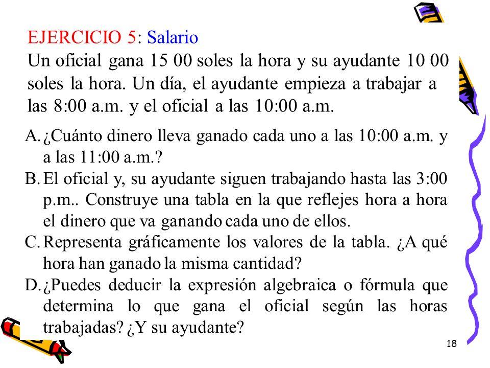 EJERCICIO 5: Salario
