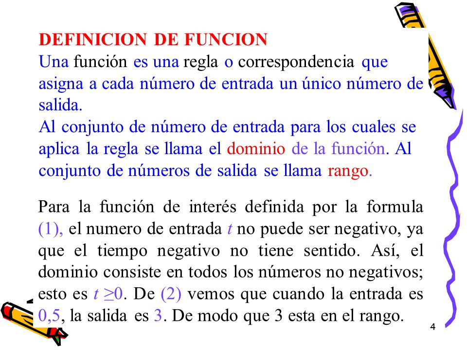 DEFINICION DE FUNCION