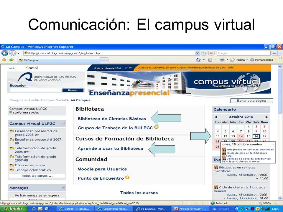 Comunicación: El campus virtual