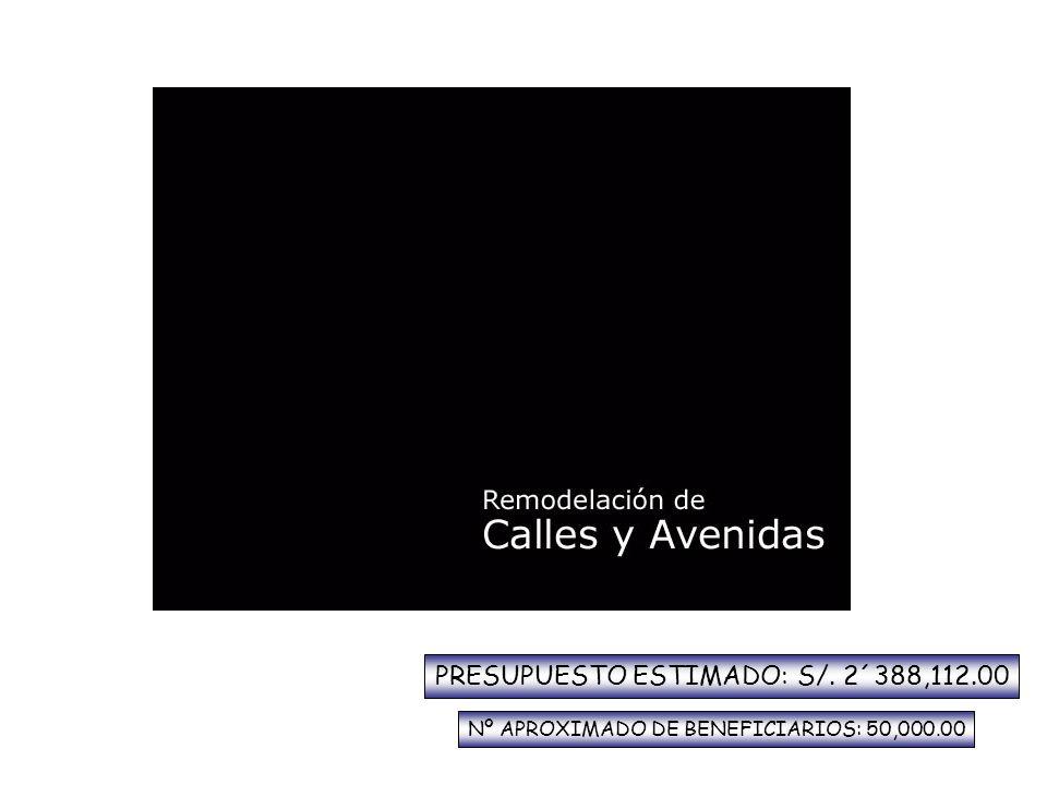 PRESUPUESTO ESTIMADO: S/. 2´388,112.00