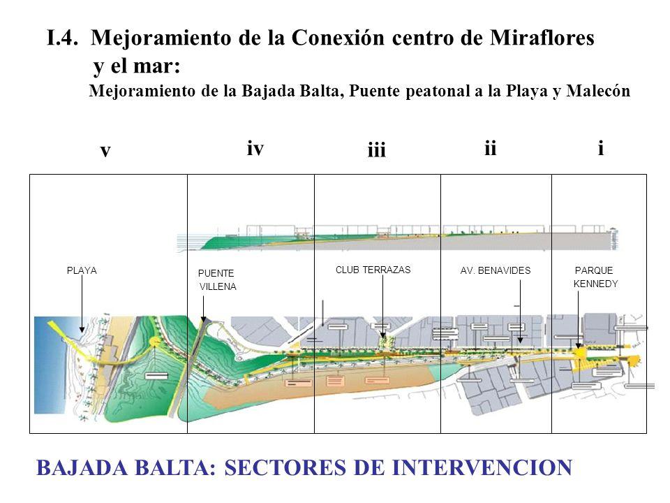 I.4. Mejoramiento de la Conexión centro de Miraflores y el mar: