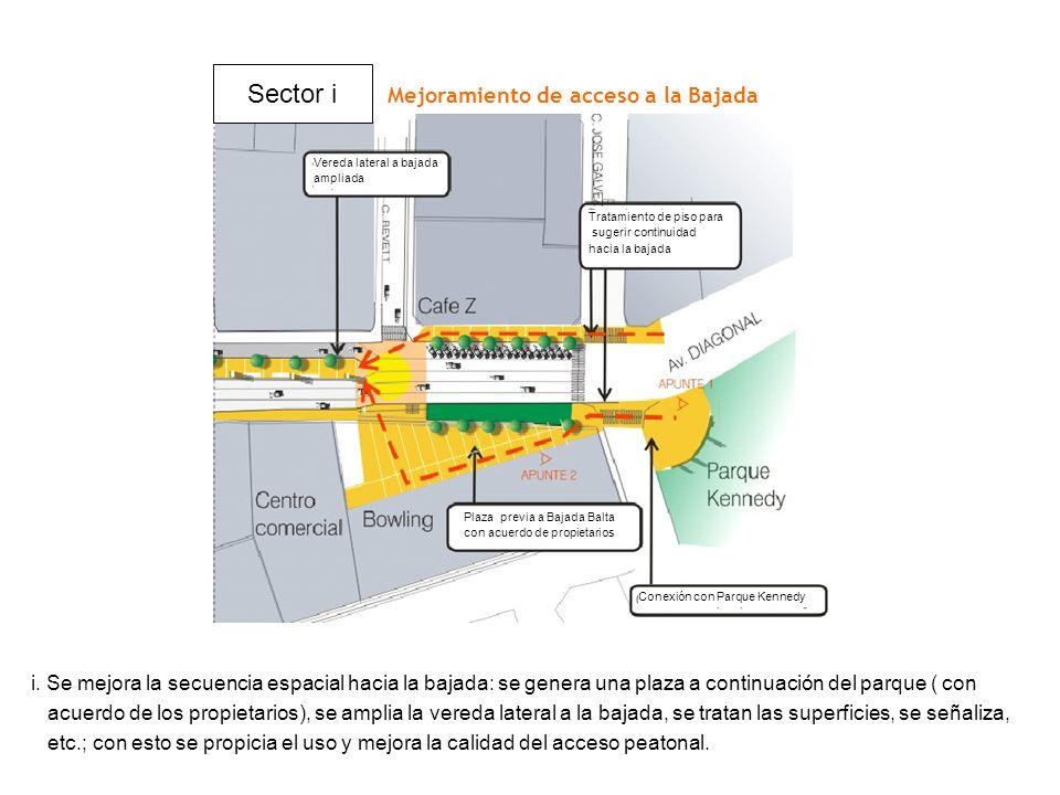 Sector i Mejoramiento de acceso a la Bajada