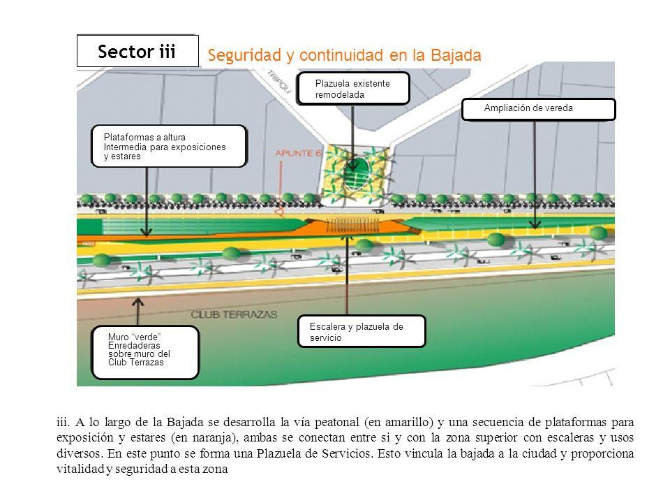 Sector iii Seguridad y continuidad en la Bajada