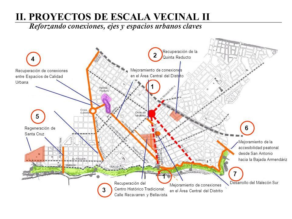 II. PROYECTOS DE ESCALA VECINAL II