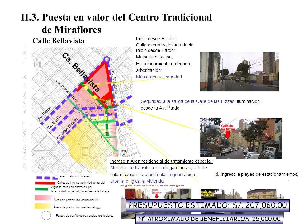 II.3. Puesta en valor del Centro Tradicional de Miraflores