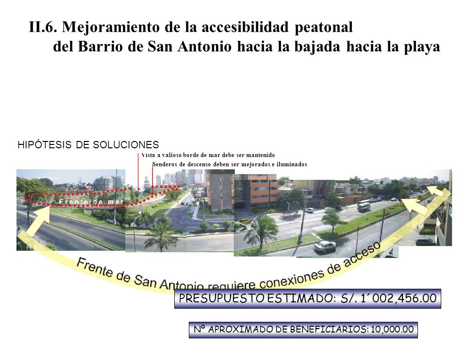 II.6. Mejoramiento de la accesibilidad peatonal
