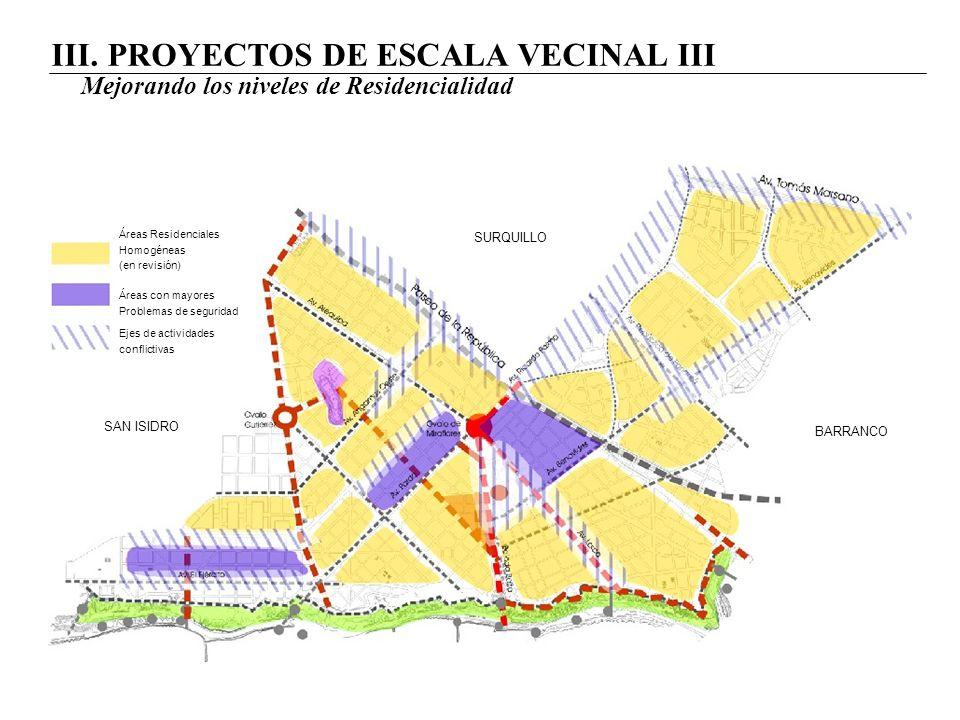 III. PROYECTOS DE ESCALA VECINAL III