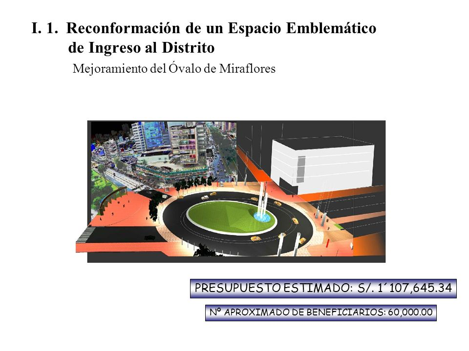 I. 1. Reconformación de un Espacio Emblemático de Ingreso al Distrito