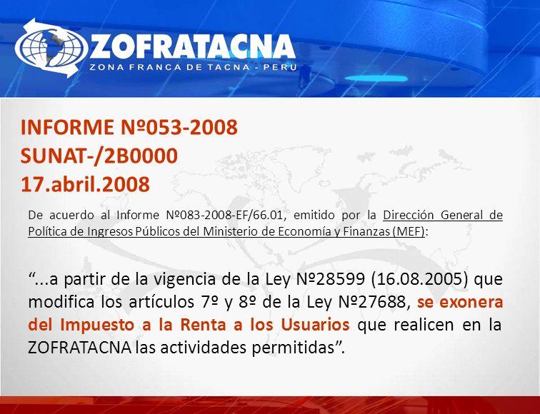 INFORME Nº053-2008 SUNAT-/2B0000 17.abril.2008