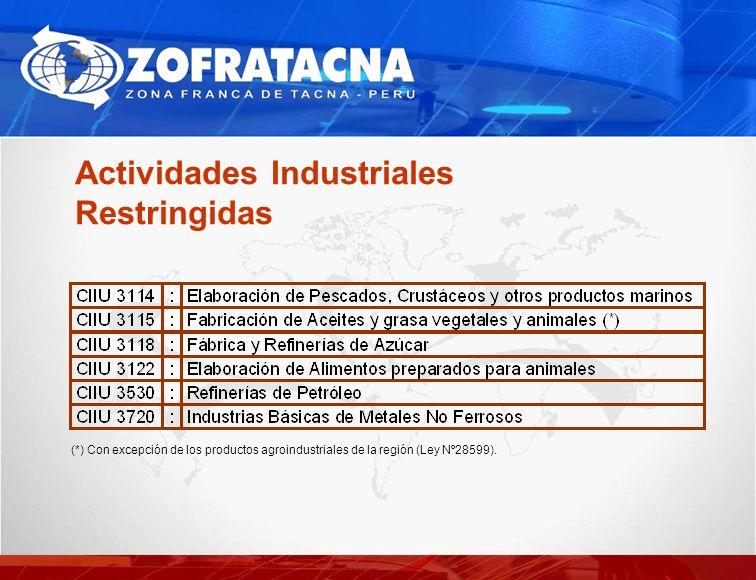 Actividades Industriales Restringidas
