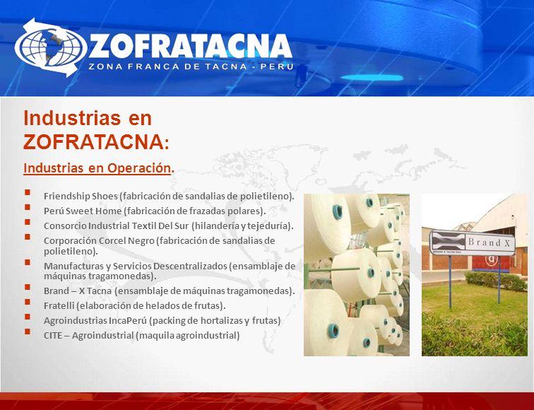 Industrias en ZOFRATACNA: Industrias en Operación.