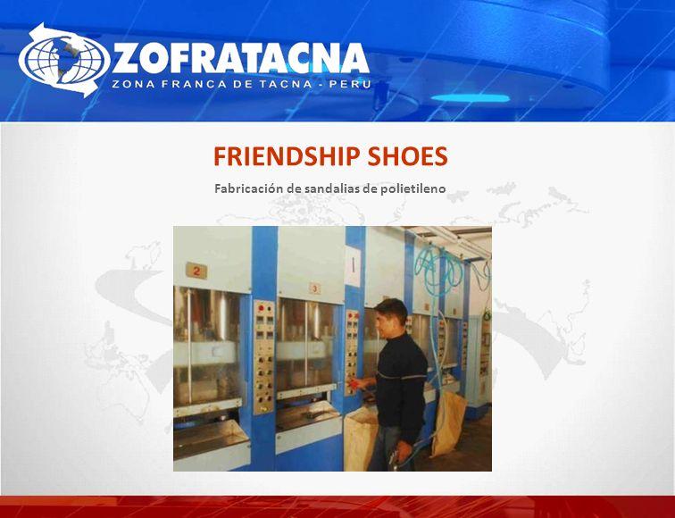 Fabricación de sandalias de polietileno