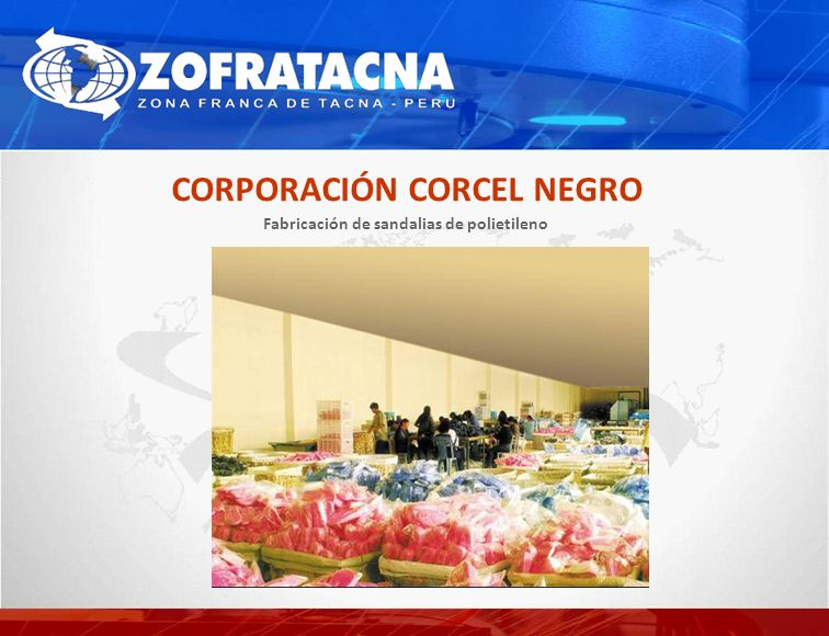 CORPORACIÓN CORCEL NEGRO Fabricación de sandalias de polietileno