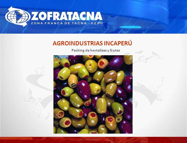 AGROINDUSTRIAS INCAPERÚ Packing de hortalizas y frutas