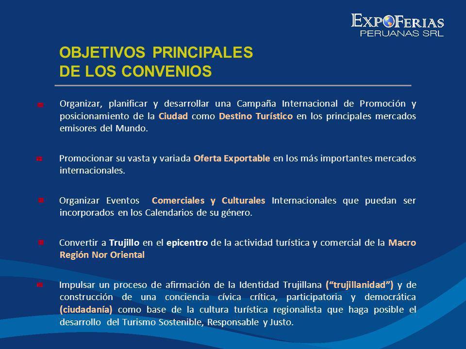 OBJETIVOS PRINCIPALES DE LOS CONVENIOS