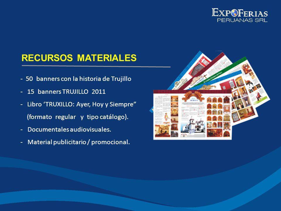 RECURSOS MATERIALES - 50 banners con la historia de Trujillo