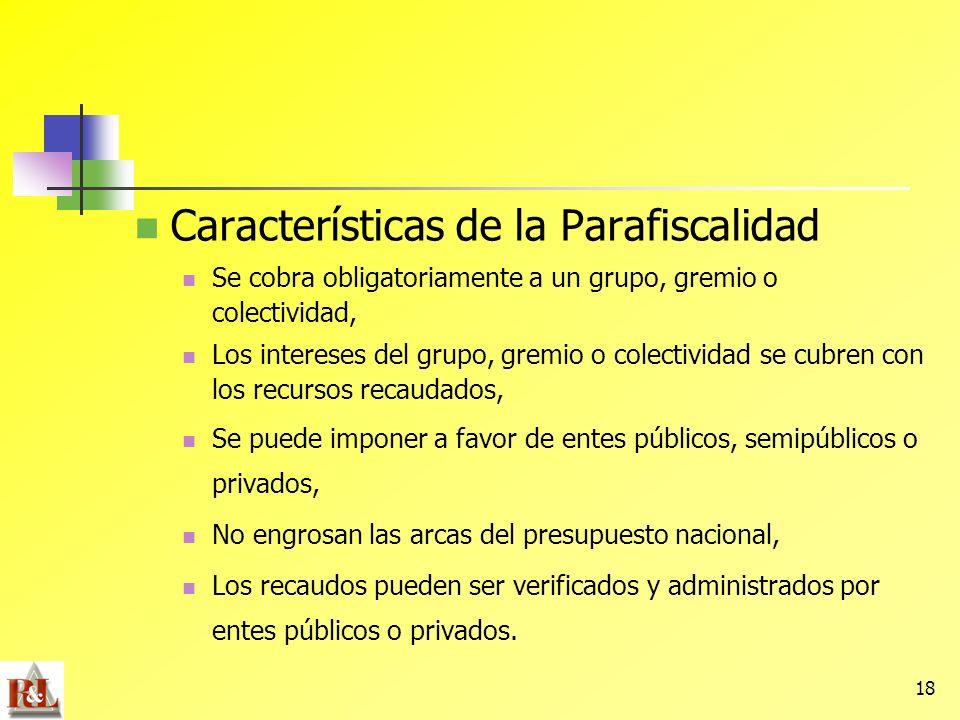 Características de la Parafiscalidad