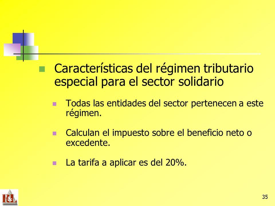 Características del régimen tributario especial para el sector solidario