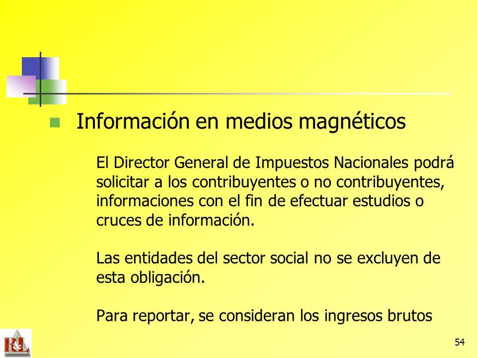 Información en medios magnéticos