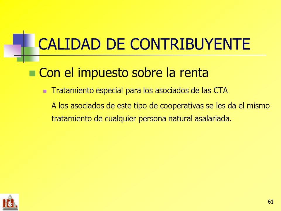 CALIDAD DE CONTRIBUYENTE