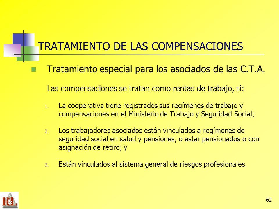 TRATAMIENTO DE LAS COMPENSACIONES