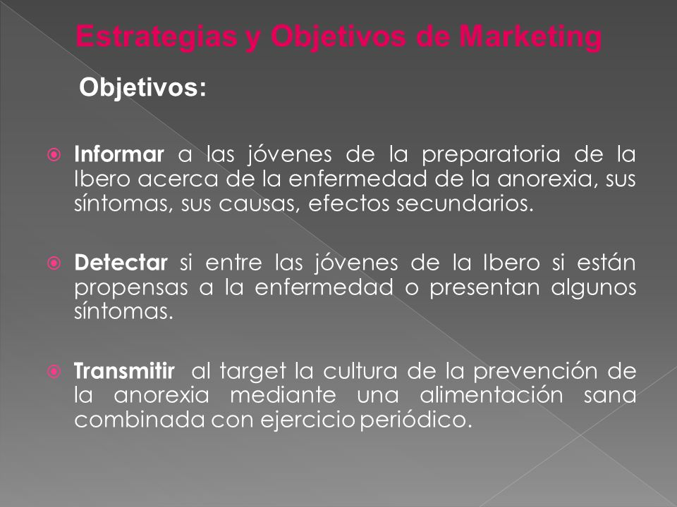Estrategias y Objetivos de Marketing