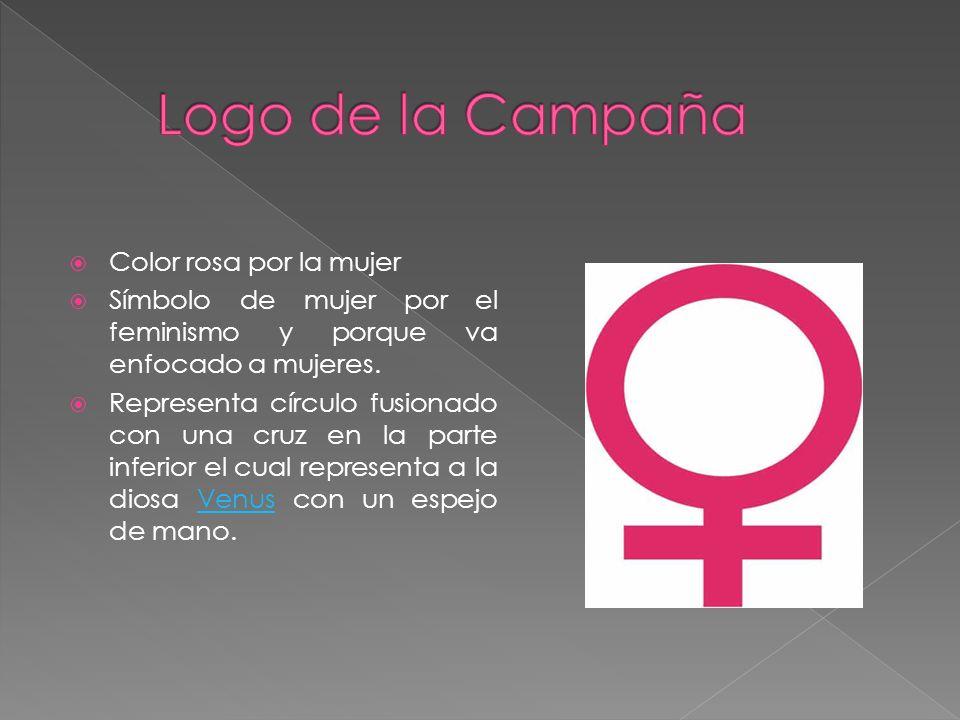 Logo de la Campaña Color rosa por la mujer