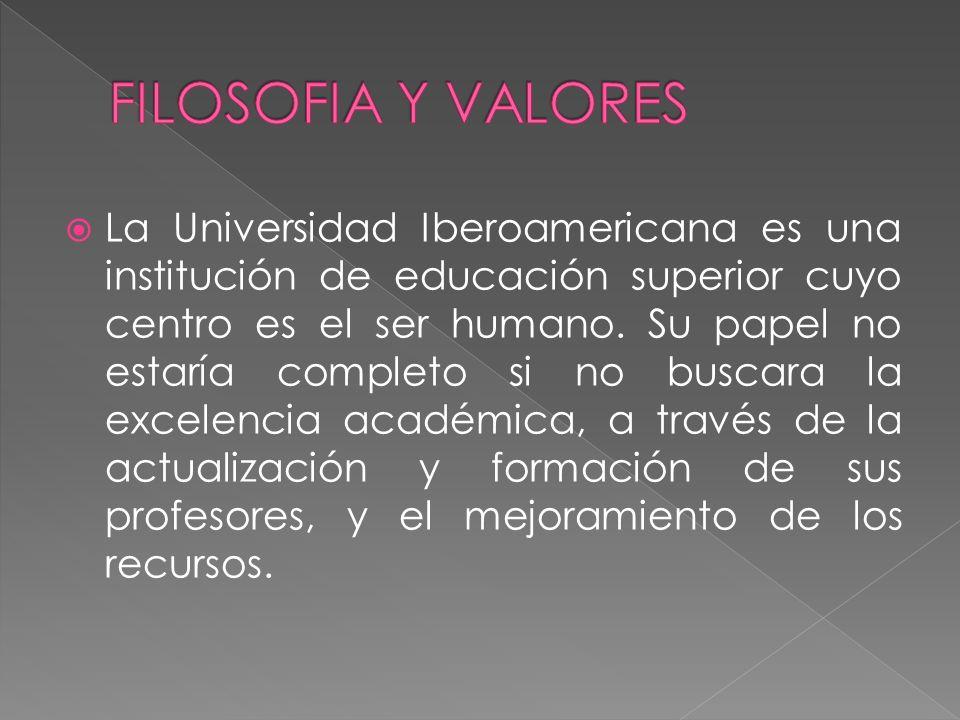 FILOSOFIA Y VALORES