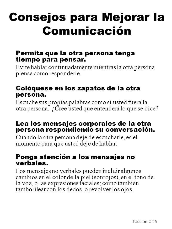 Consejos para Mejorar la Comunicación