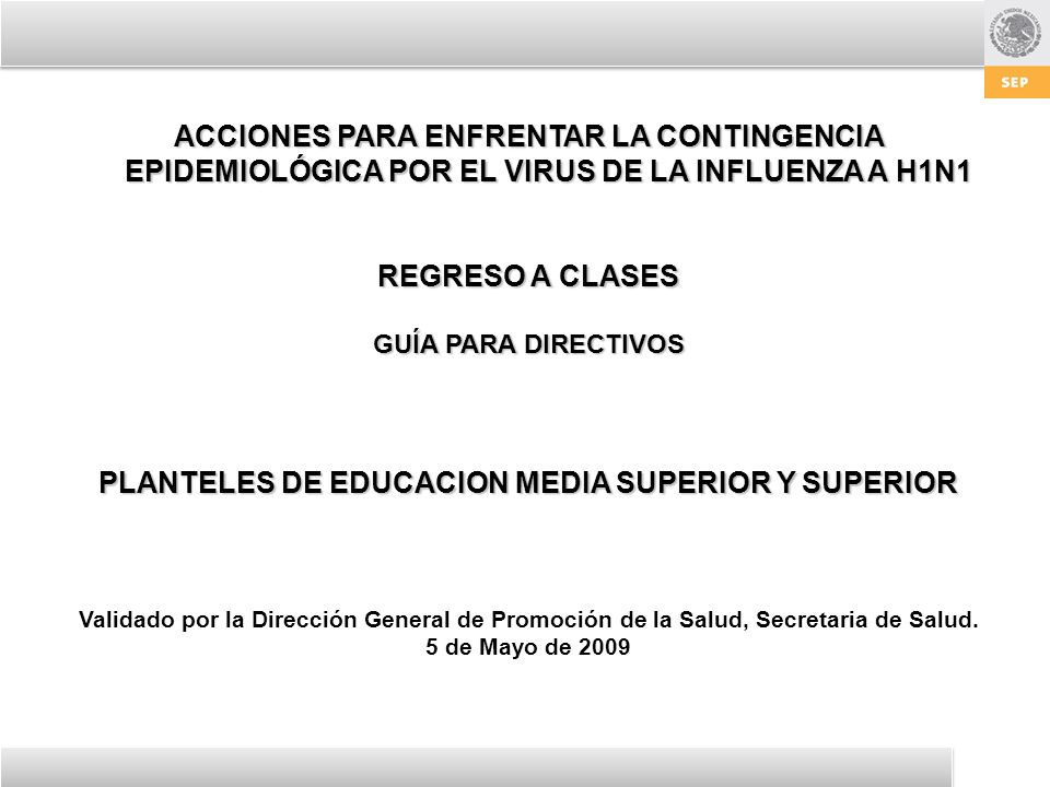 PLANTELES DE EDUCACION MEDIA SUPERIOR Y SUPERIOR