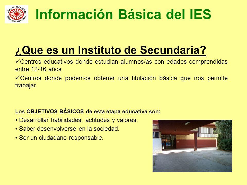 Información Básica del IES