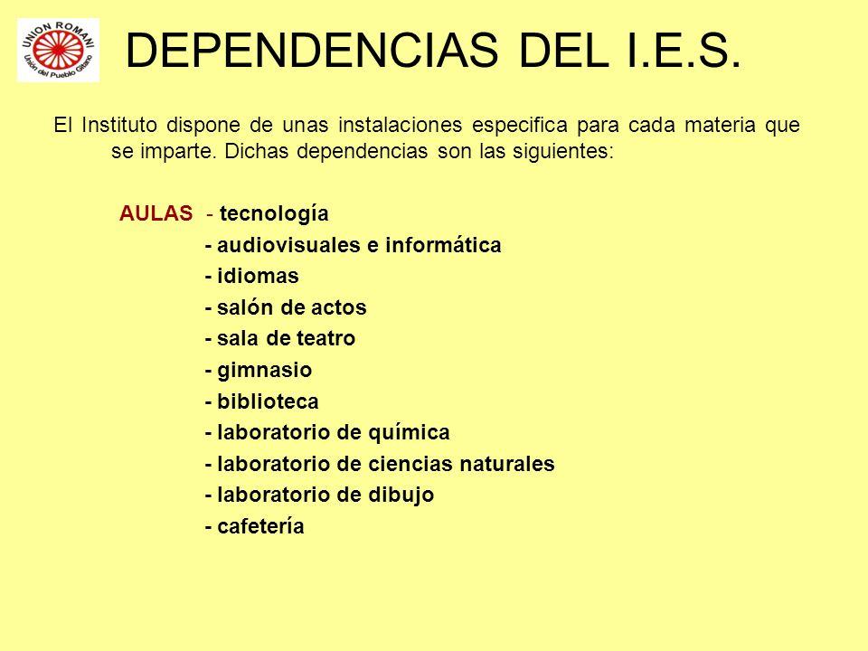 DEPENDENCIAS DEL I.E.S.