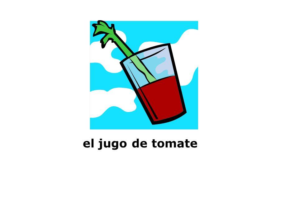 el jugo de tomate