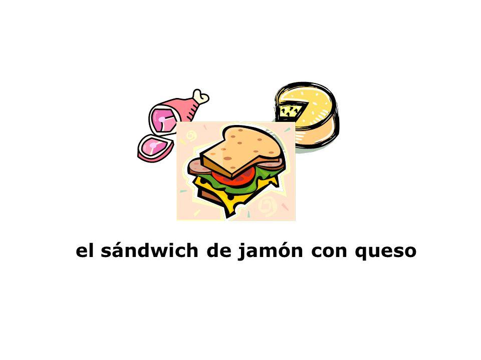 el sándwich de jamón con queso
