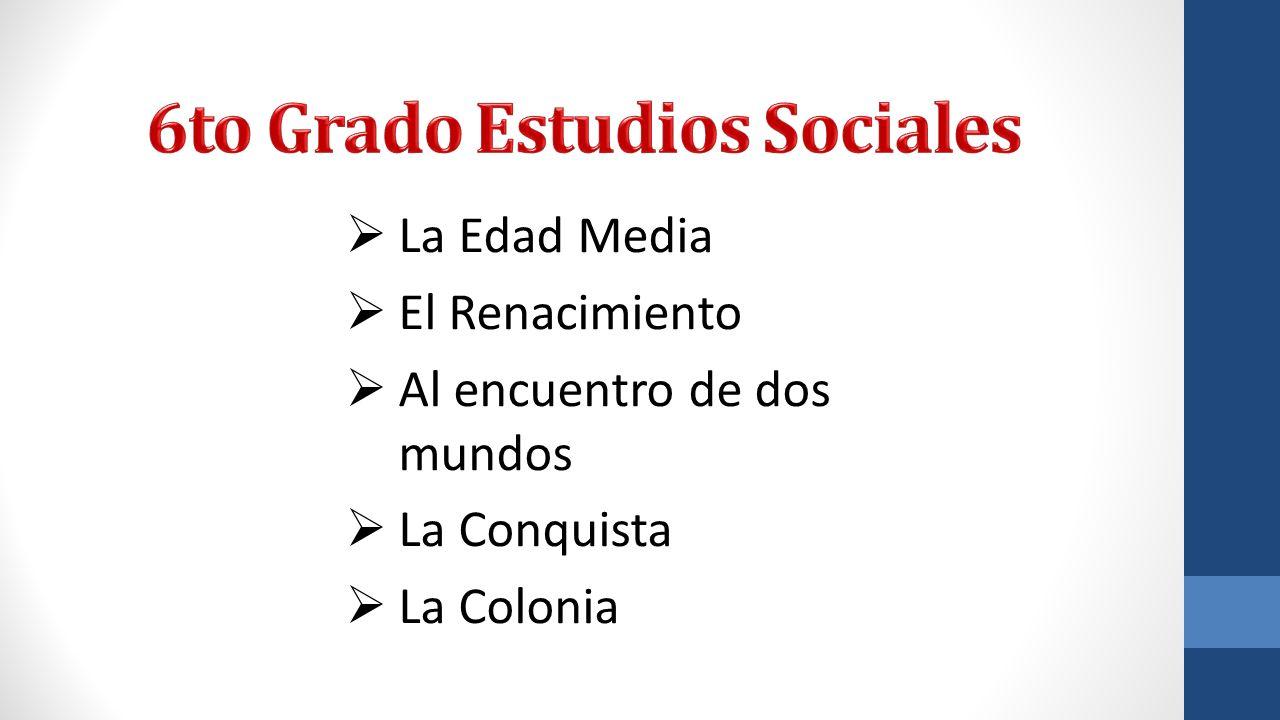 6to Grado Estudios Sociales