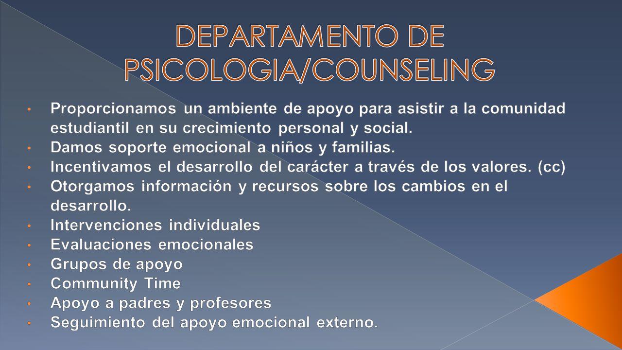 DEPARTAMENTO DE PSICOLOGIA/COUNSELING