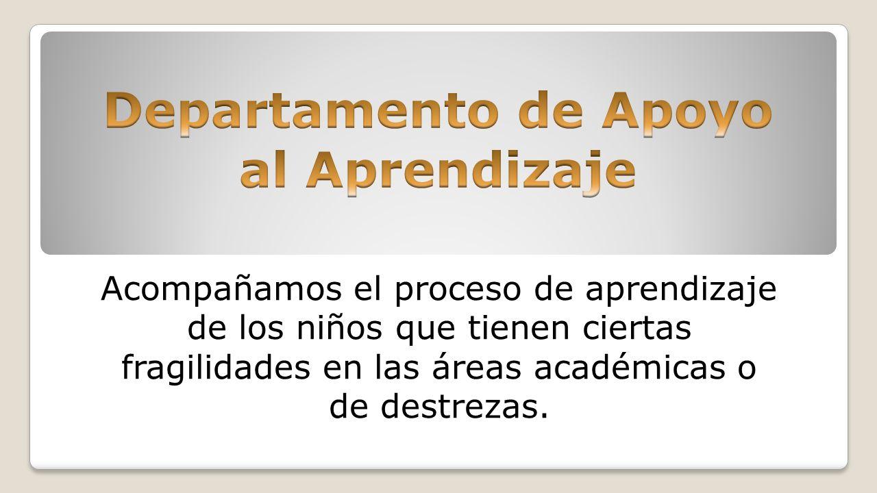 Departamento de Apoyo al Aprendizaje