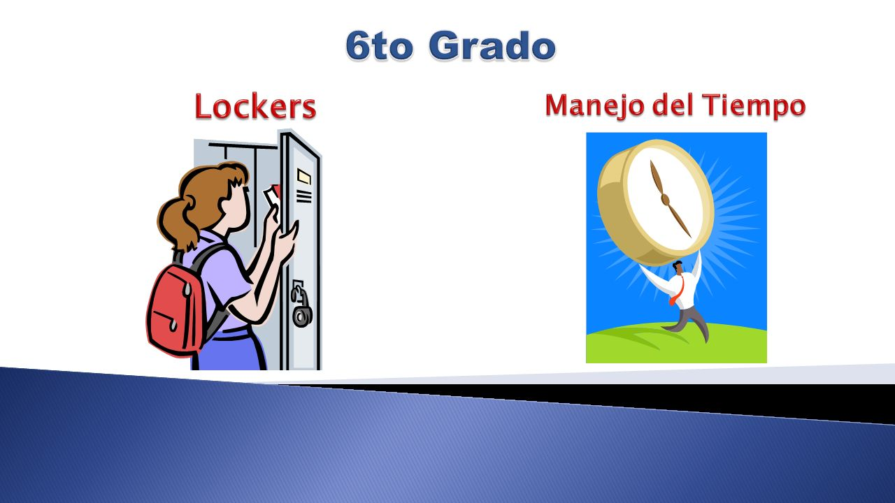 6to Grado Lockers Manejo del Tiempo
