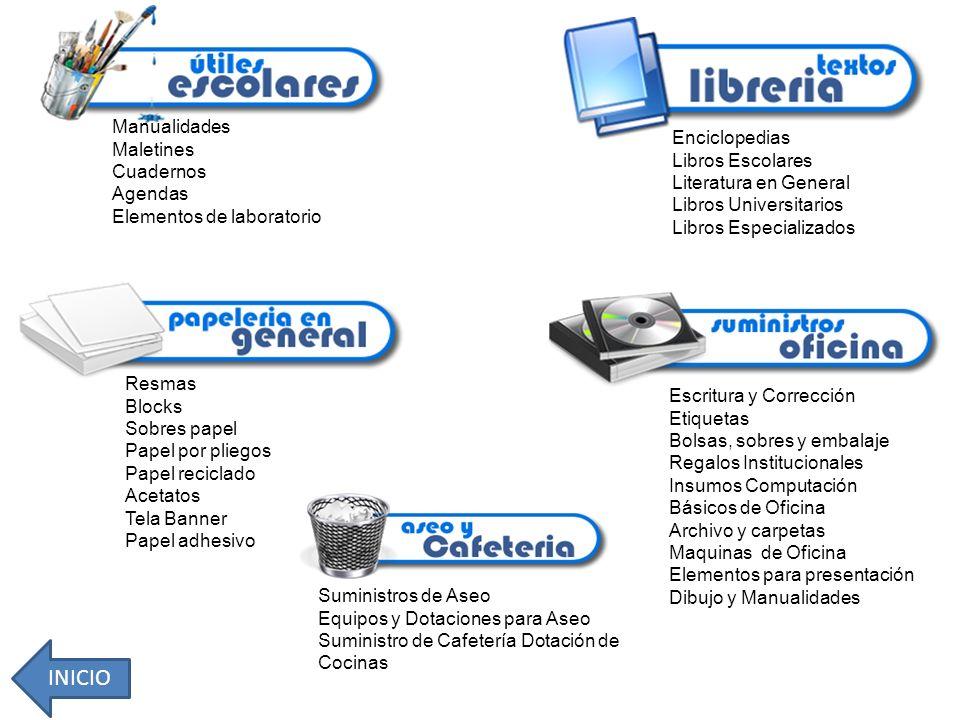 INICIO Manualidades Maletines Cuadernos Agendas
