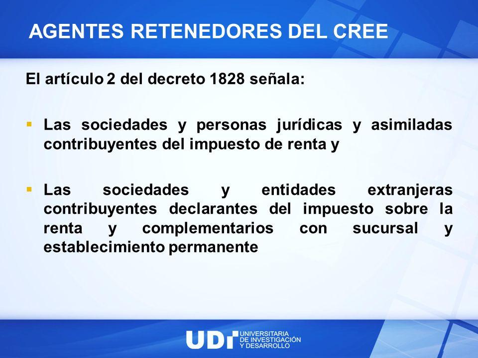 AGENTES RETENEDORES DEL CREE