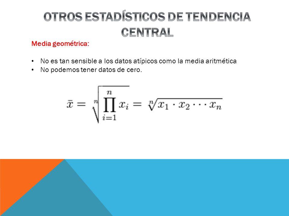 OTROS ESTADÍSTICOS DE TENDENCIA CENTRAL