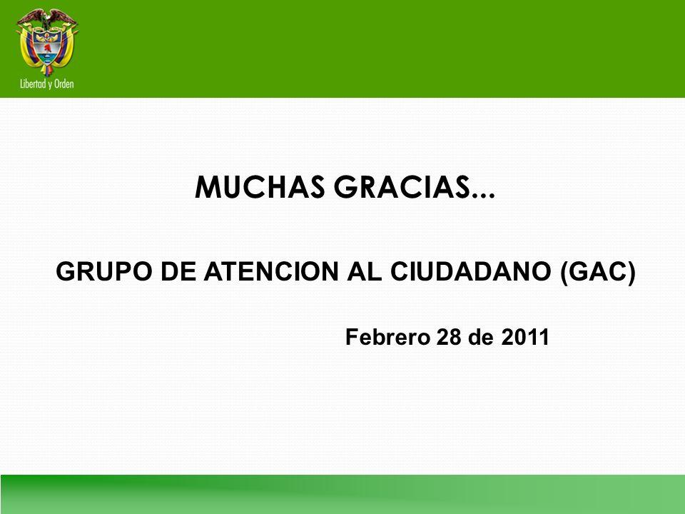 GRUPO DE ATENCION AL CIUDADANO (GAC)